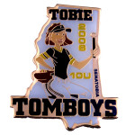 etched tomboy lapel pins