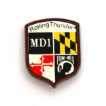 rolling thunder printed lapel pins
